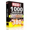 1000 tarjetas de Presentación Frente color Reverso 1 Tinta