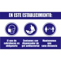 Letrero de prevención para negocio